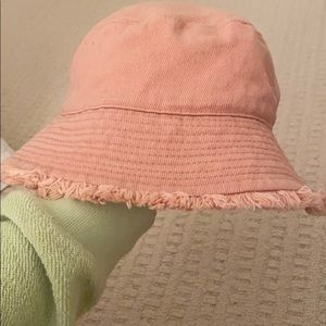 Pink ASOS bucket hat